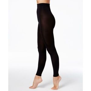 NWT DKNY Compression Footless Tights Tall Black